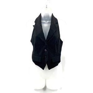 River Island Women's Striped Black Vest Size 6